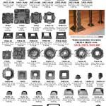 10.Декаративные литые и кованые элементы подпятники заглушки