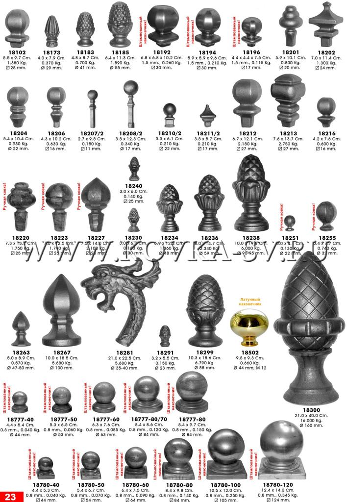 23. кованые штампованые наконечники
