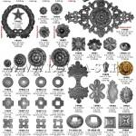 9.Заклепки декаративные литые и кованые элементы.подпятники